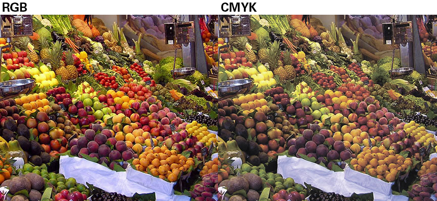 RGB to CMYK color space conversion